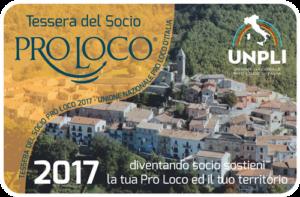 Tessera del Socio Pro Loco 2017
