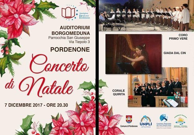 Volantino Concerto di Natale 2017: Coro Primo Vere e Corale Quirita