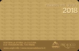 Tessera Del Socio Pro Loco 2018, Pordenone