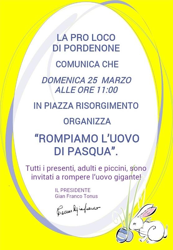 Locandina Evento Pro Loco Piazza Risorgimento Rompiamo L'Uovo
