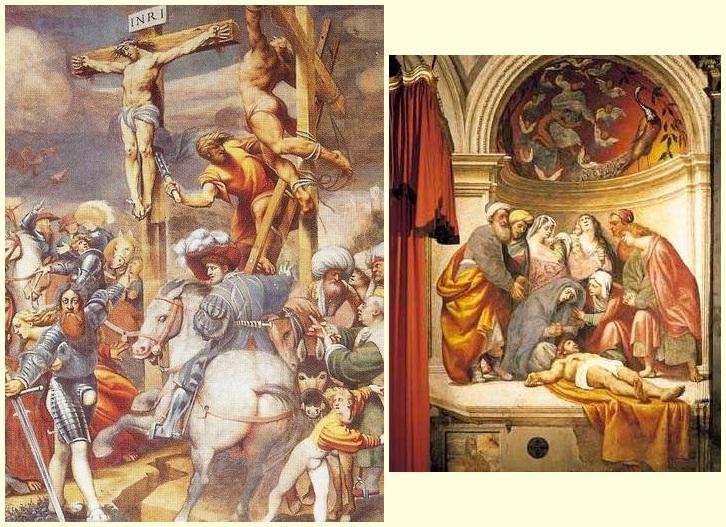 La Crocifissione E La Deposizione, Quadri Del Pordenone