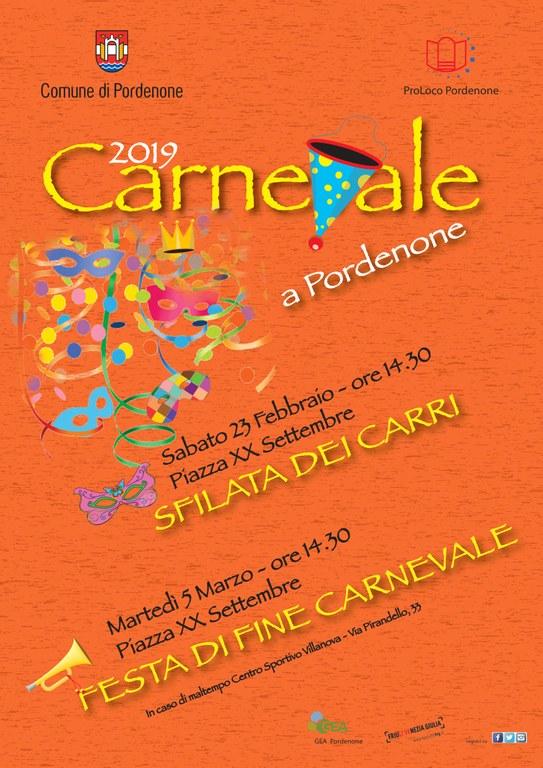 Locandina Carnevale 2019 Comune Di Pordenone