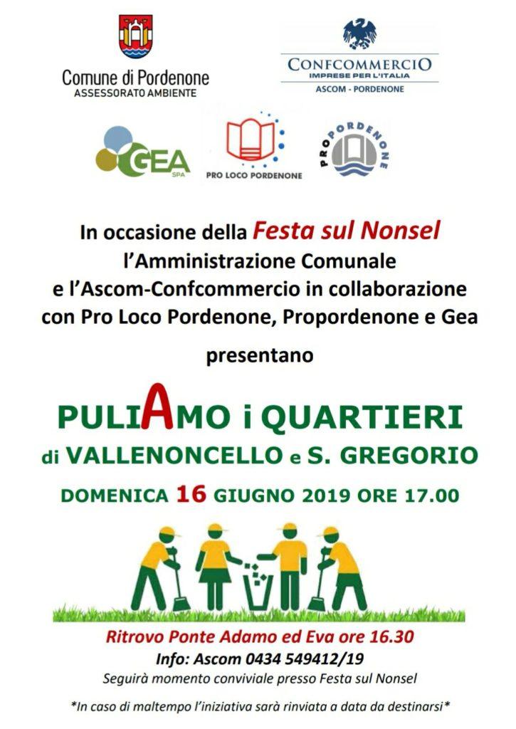 Puliamo I Quartieri Di Vallenoncello E San Gregorio, Festa Sul Nonsel 2019